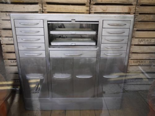 Vintage Steel Glass Topped Dentists Cabinet | 83394 ...