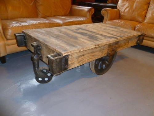 Trolley Coffee Table.Decorative Industrial Nut Trolley Coffee Tables 133730