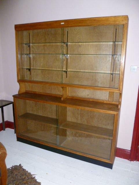 large vintage shop display cabinet - Large Vintage Shop Display Cabinet 137894 Sellingantiques.co.uk