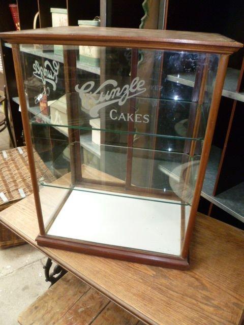 Antique Kunzle Cakes Shop Display Cabinet 162059