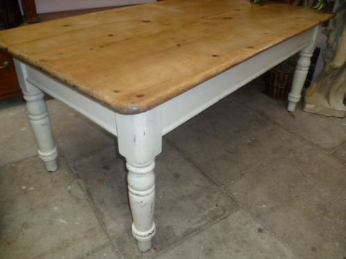 Merveilleux Victorian Antique Pine Dining Table