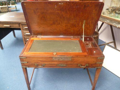 antique military campaign desk - Antique Military Campaign Desk 234631 Sellingantiques.co.uk