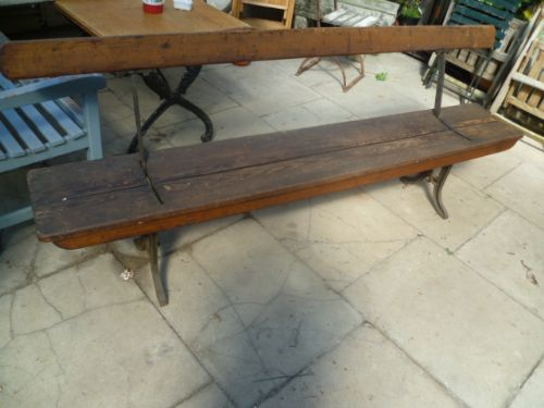 Antique Tram Trolley Bus Fold Over Seat Bench 238964 Sellingantiques Co Uk