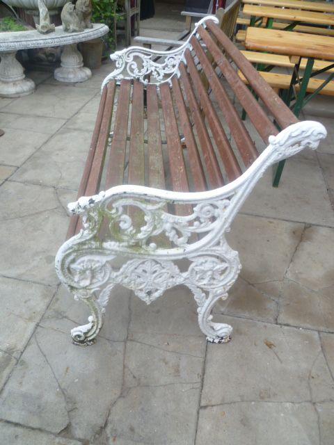 Antique Victorian Cast Iron Garden Bench Seat 245392