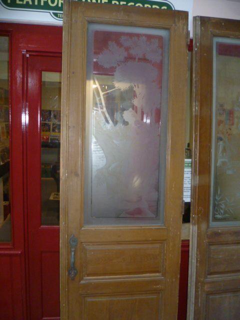 antique acid etched glass door - Antique Acid Etched Glass Door 246640 Sellingantiques.co.uk
