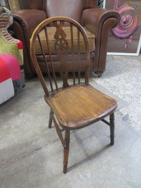 antique oak childs wheel back chair - Antique Oak Childs Wheel Back Chair 378156 Sellingantiques.co.uk