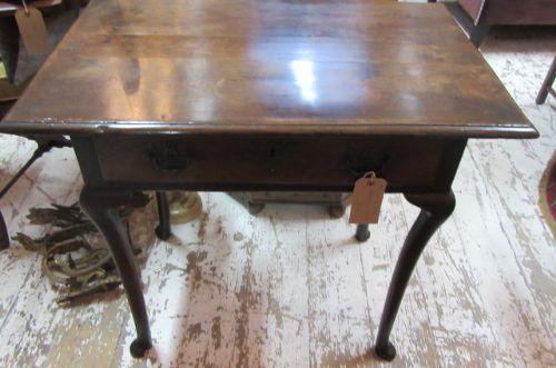 antique period oak lowboy