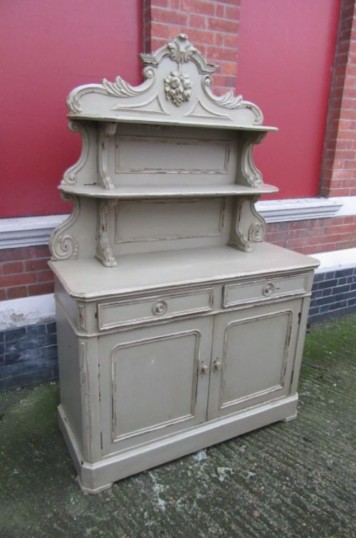 antique french painted buffet