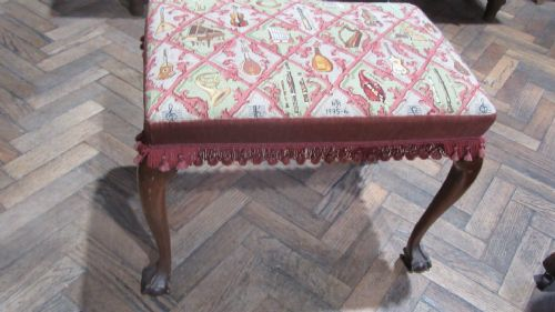 Benches/stools Edwardian Footstool With Tapestry Top Up-To-Date Styling