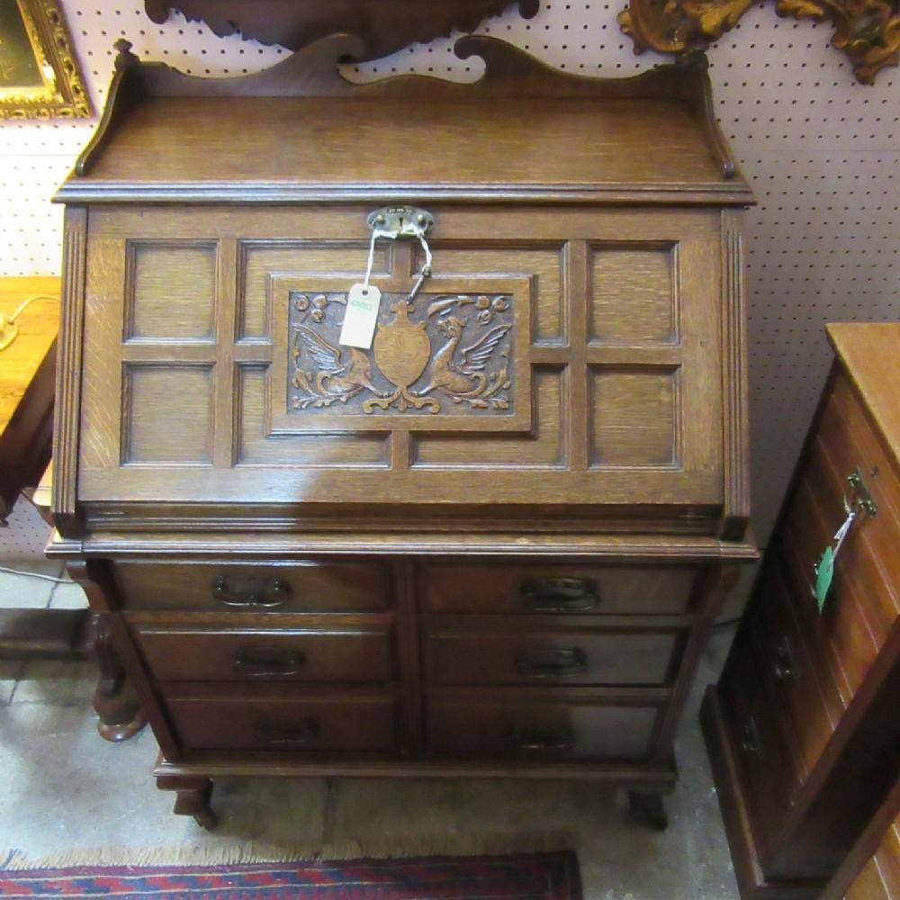Arts and crafts bureau - Antique Oak Arts Crafts Bureau