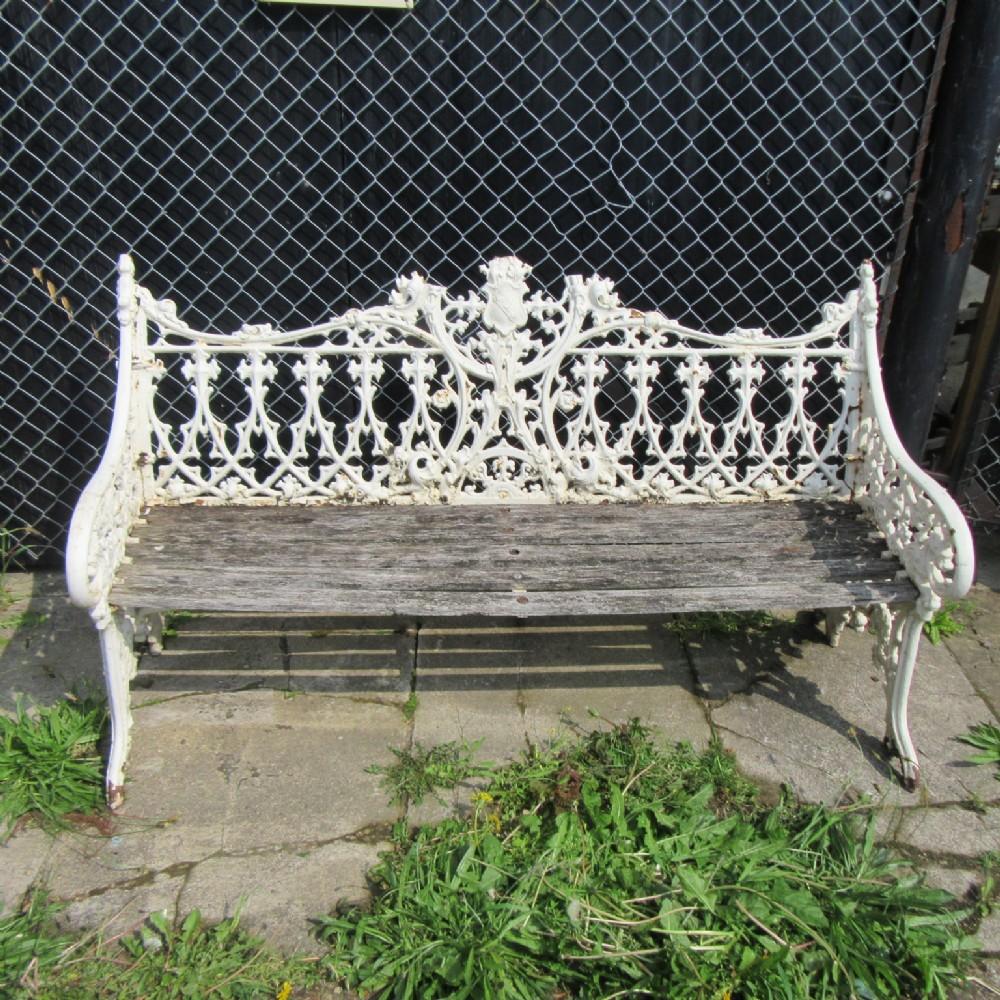 Antique Victorian Cast Iron Garden Bench Seat