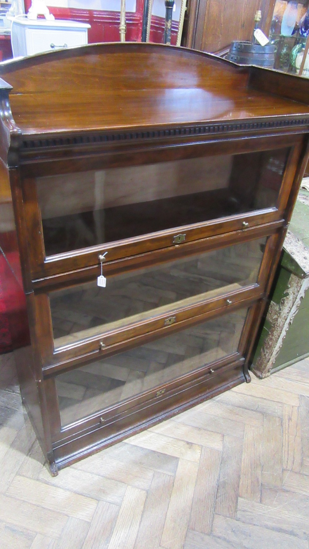 antique three tier stacking bookcase