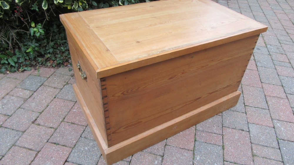 antique edwardian country pine trunk