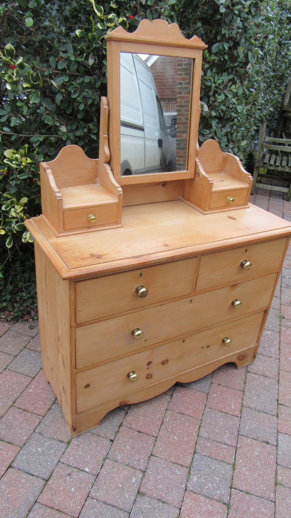 antique victorian country pine dressing chest