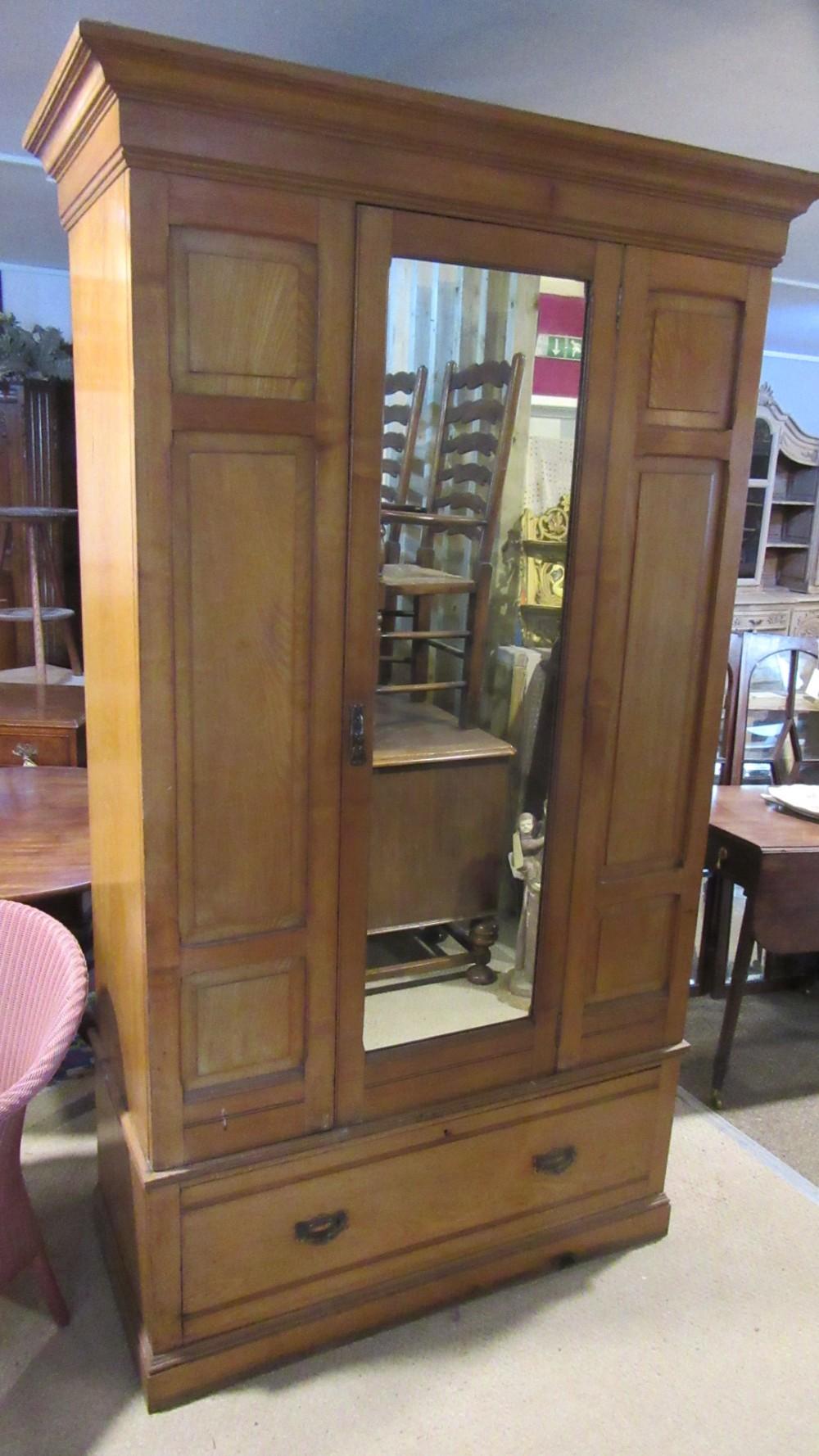 antique victorian ash wardrobe