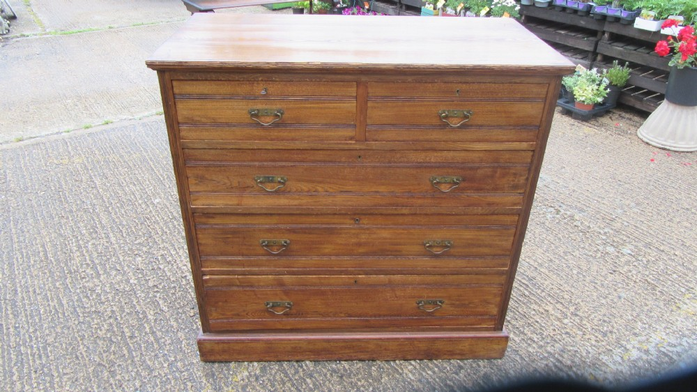 antique victorian ash chest of drawers by maple co