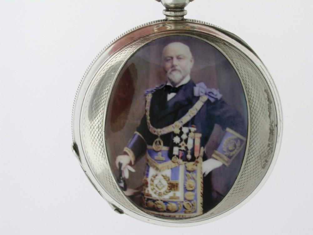 silver 0935 half hunter pocket watch swiss 1880