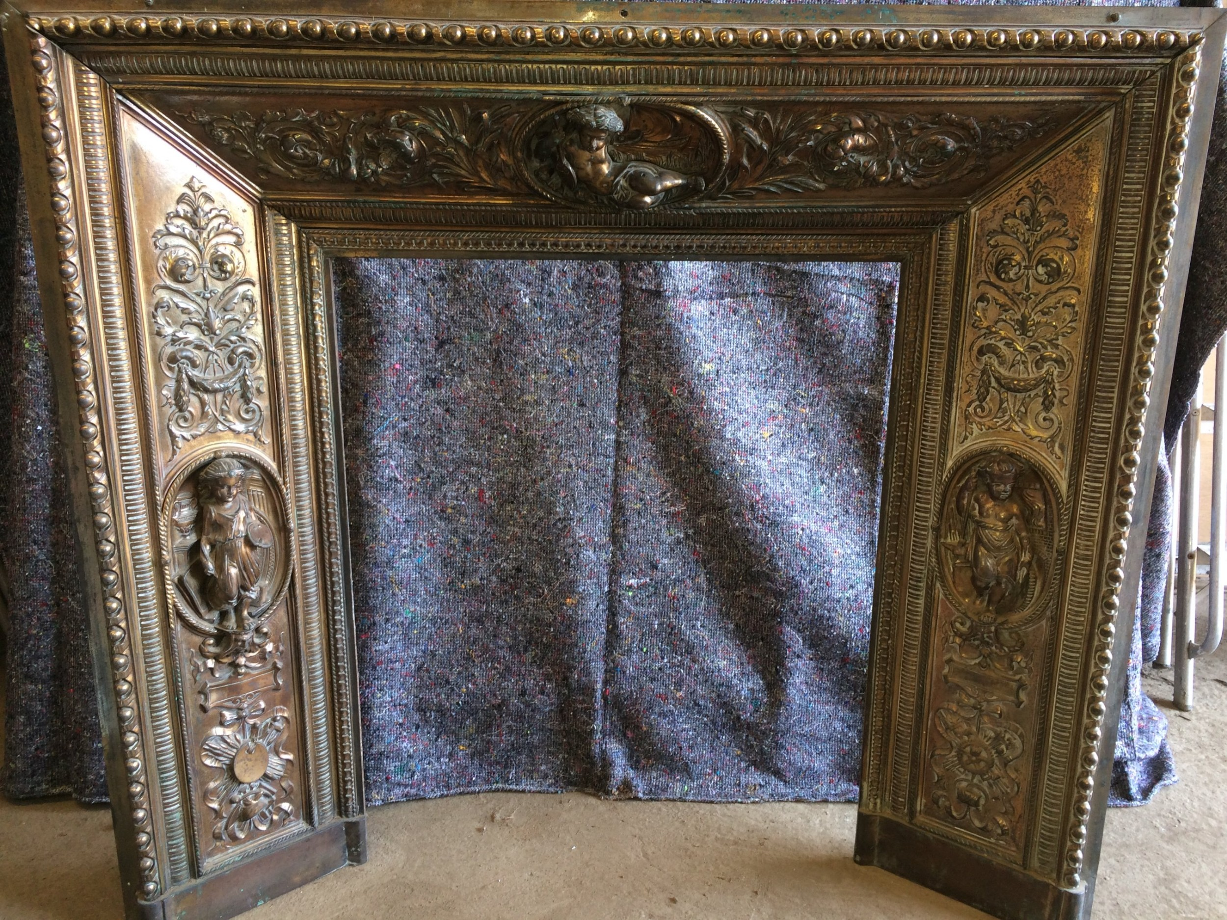Incredible Cast Brass Fireplace Insert 625037 Sellingantiques Co Uk Download Free Architecture Designs Pushbritishbridgeorg