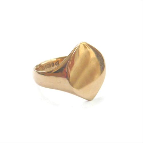 art deco 9ct gold lozenge shaped signet ring