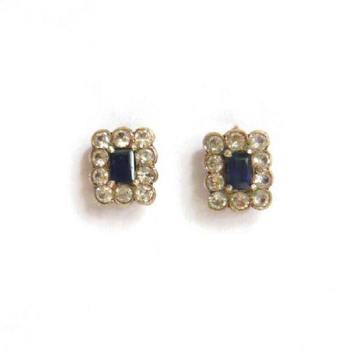 edwardian sapphire diamond paste earrings