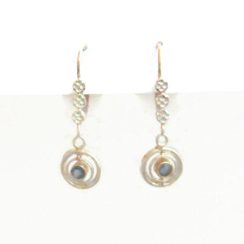 edwardian 18kt gold sapphire paste drop earrings