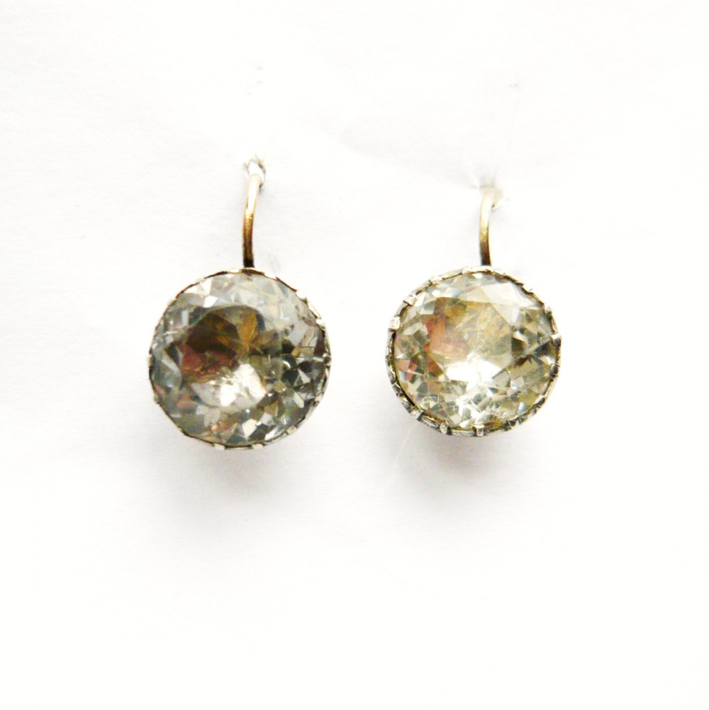 georgian large paste earrings