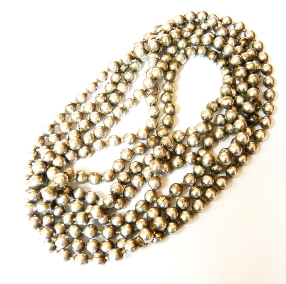 victorian 800 silver ball long guard chain