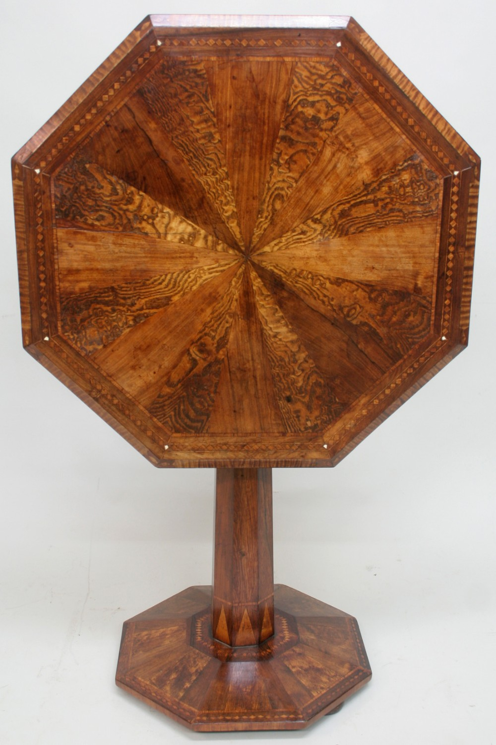 19th century specimen wood occasional table