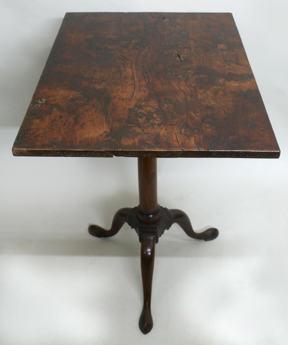 georgian burr yew tripod table