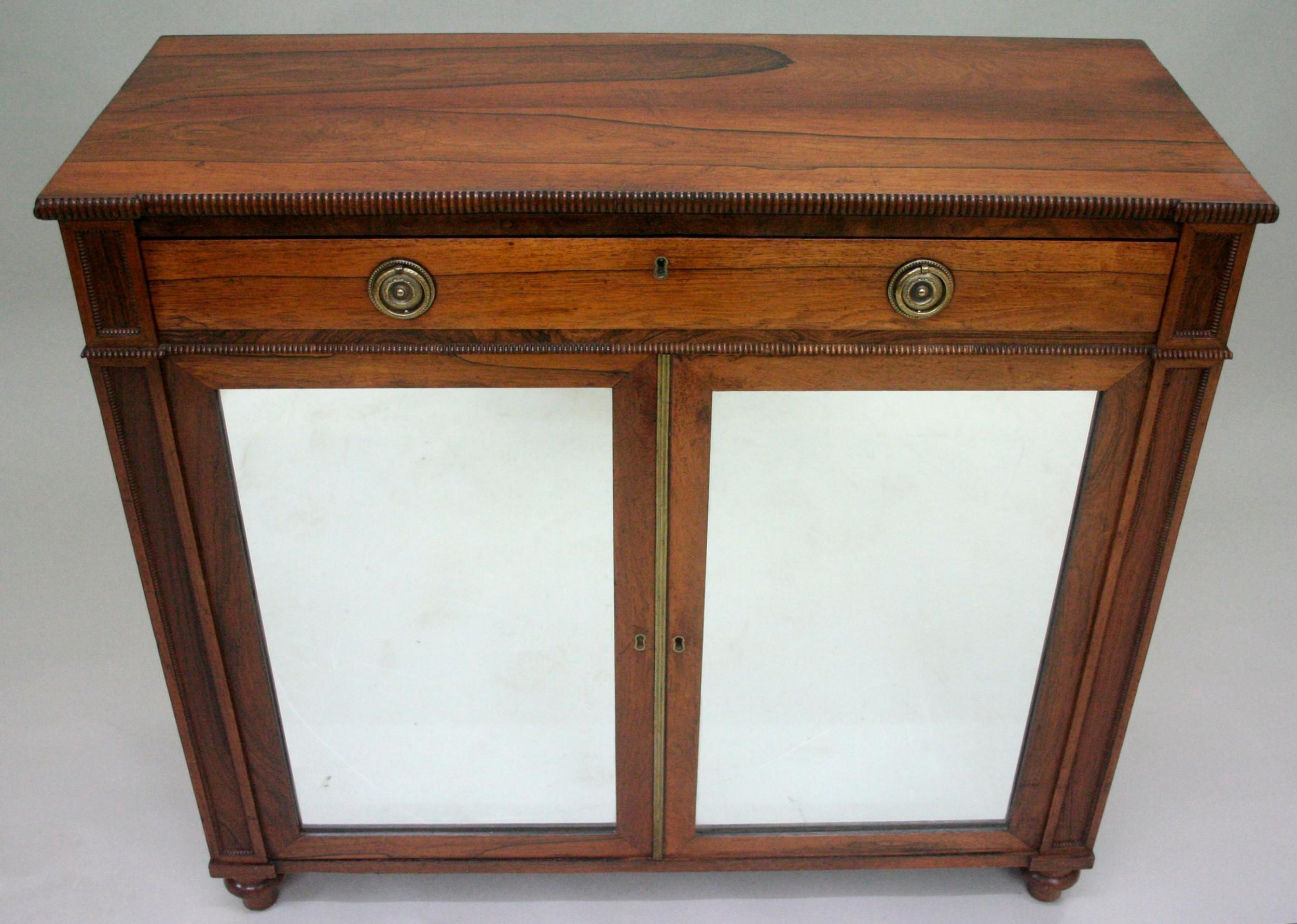a regency rosewood cabinet