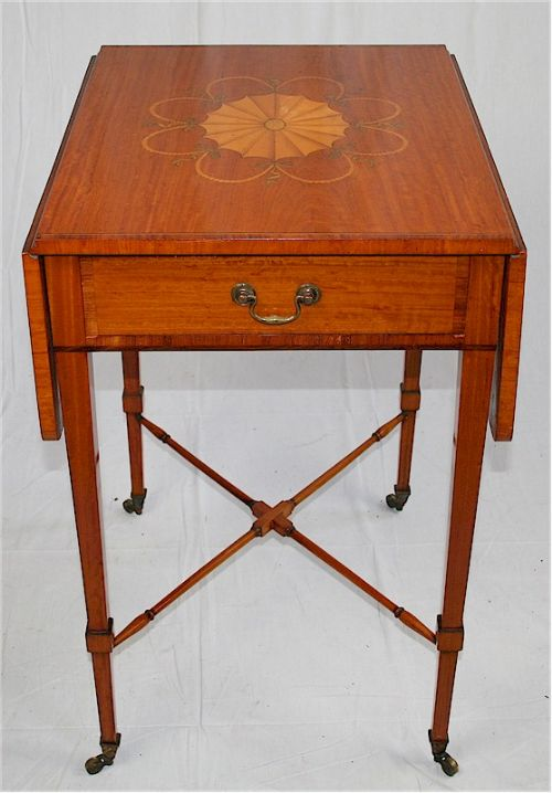 edwardin satinwood inlaid pembroke table