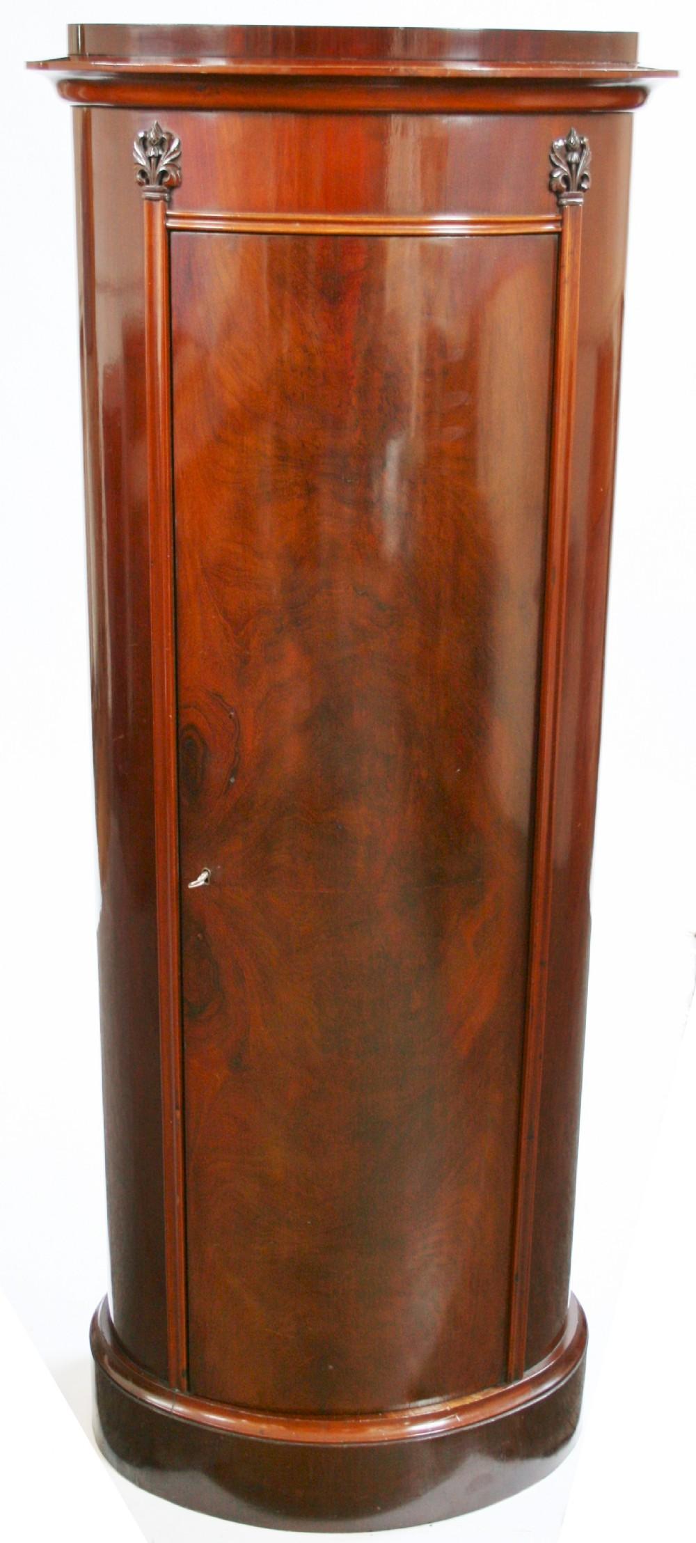 Victorian Mahogany Half Round Pedestal Cupboard. | 237165 ...