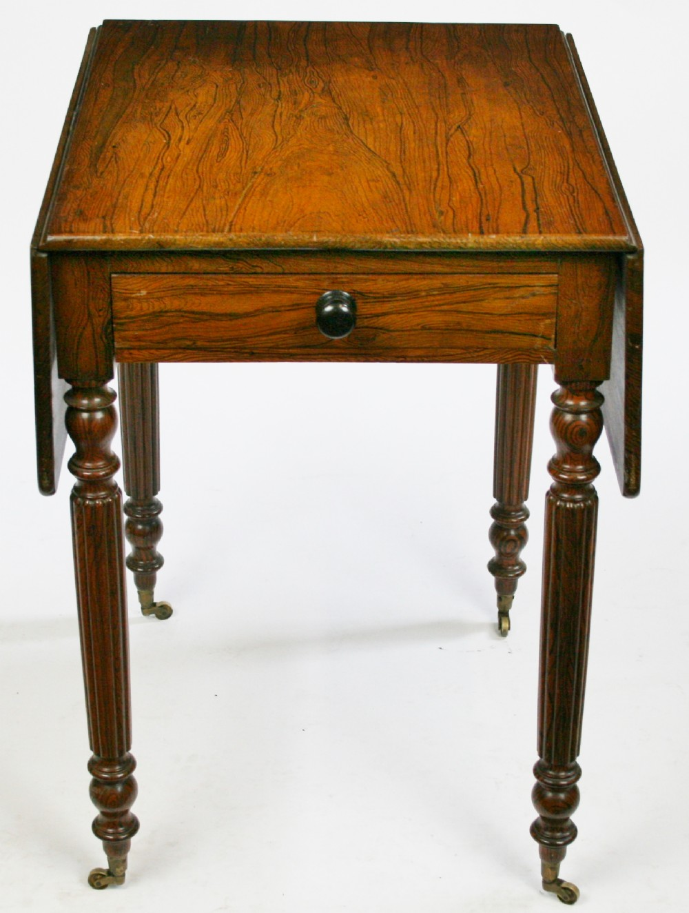 william 1v simulated rosewood small pembroke table