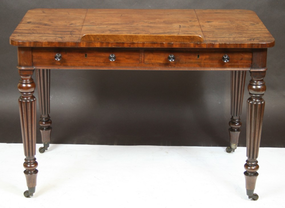 fine quality william 1v mahogany readingwriting table in the gillows manner