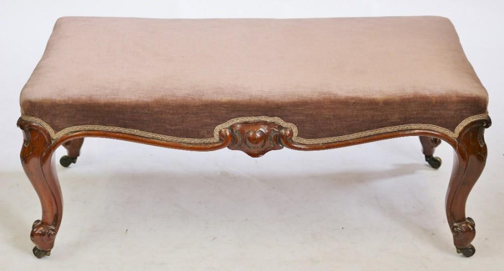 victorian mahogany stool on cabriole legs