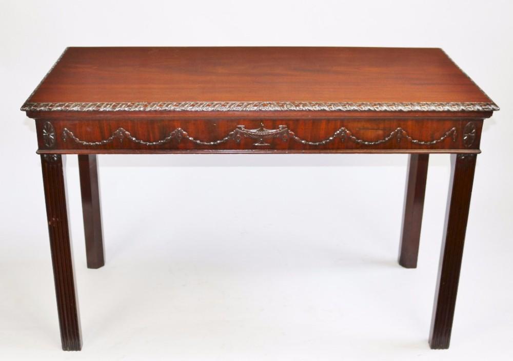 19c mahogany 'adam style' centreside table