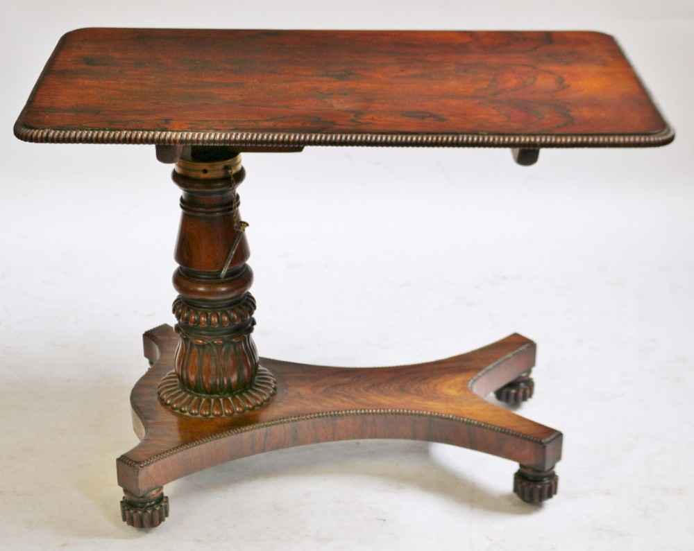 regency rosewood adjustable bed table