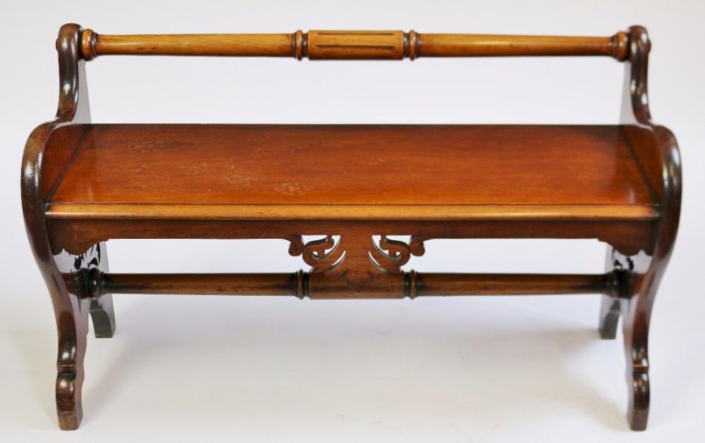 victorian mahogany hall seat by garnett sons