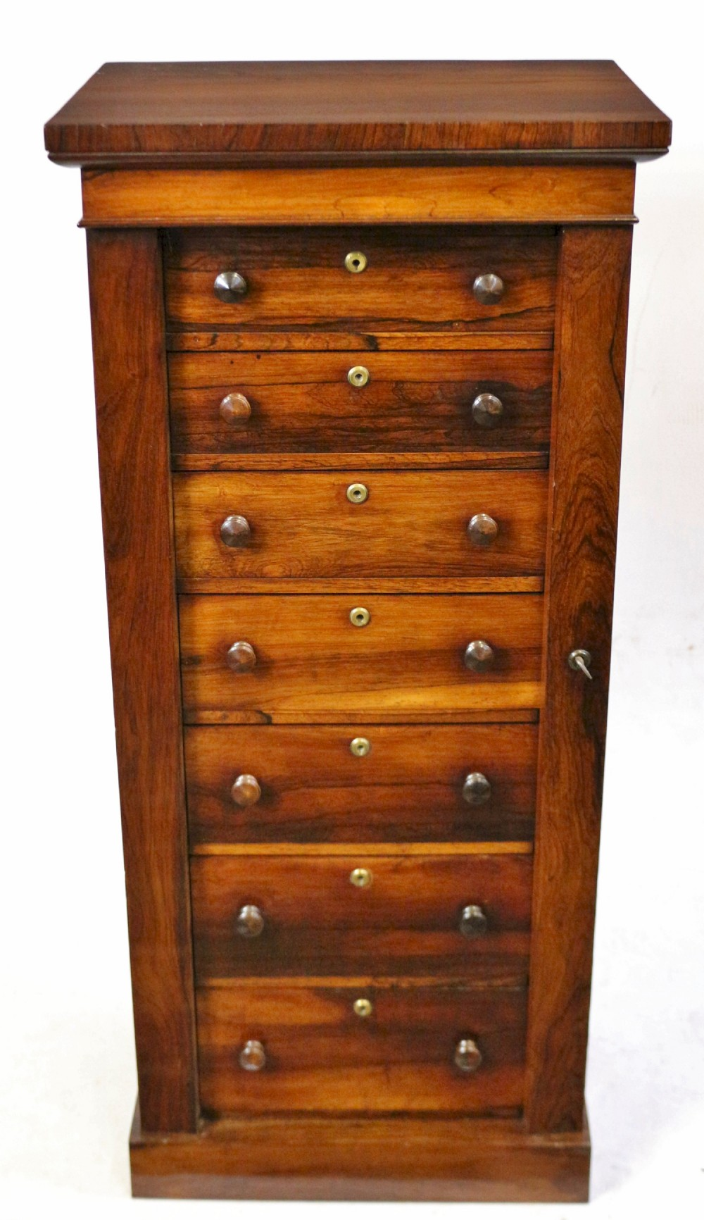 early victorian rosewood 7 drawer wellington specimen chest
