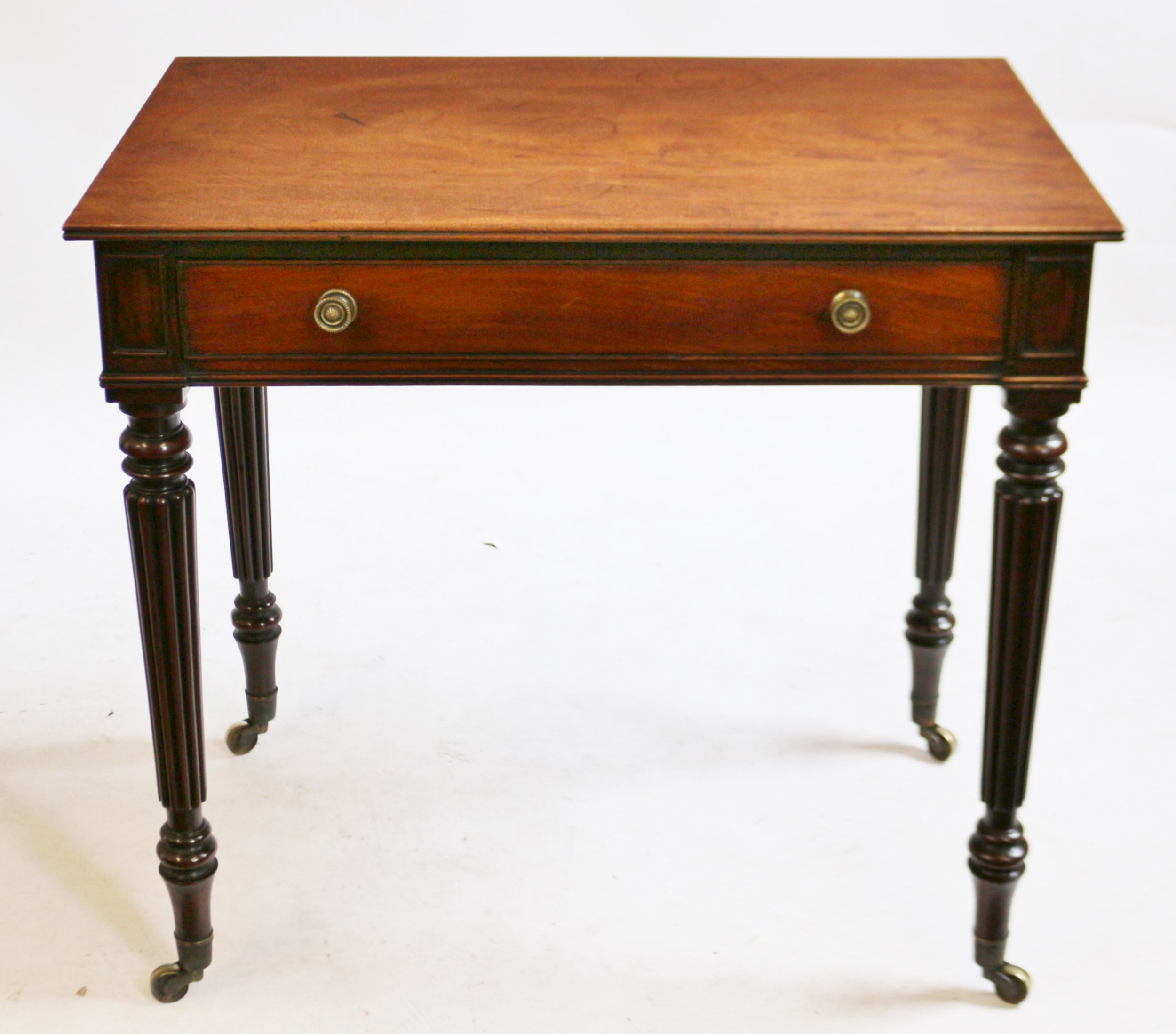 george 1v mahogany 1 drawer table attributed to gillows