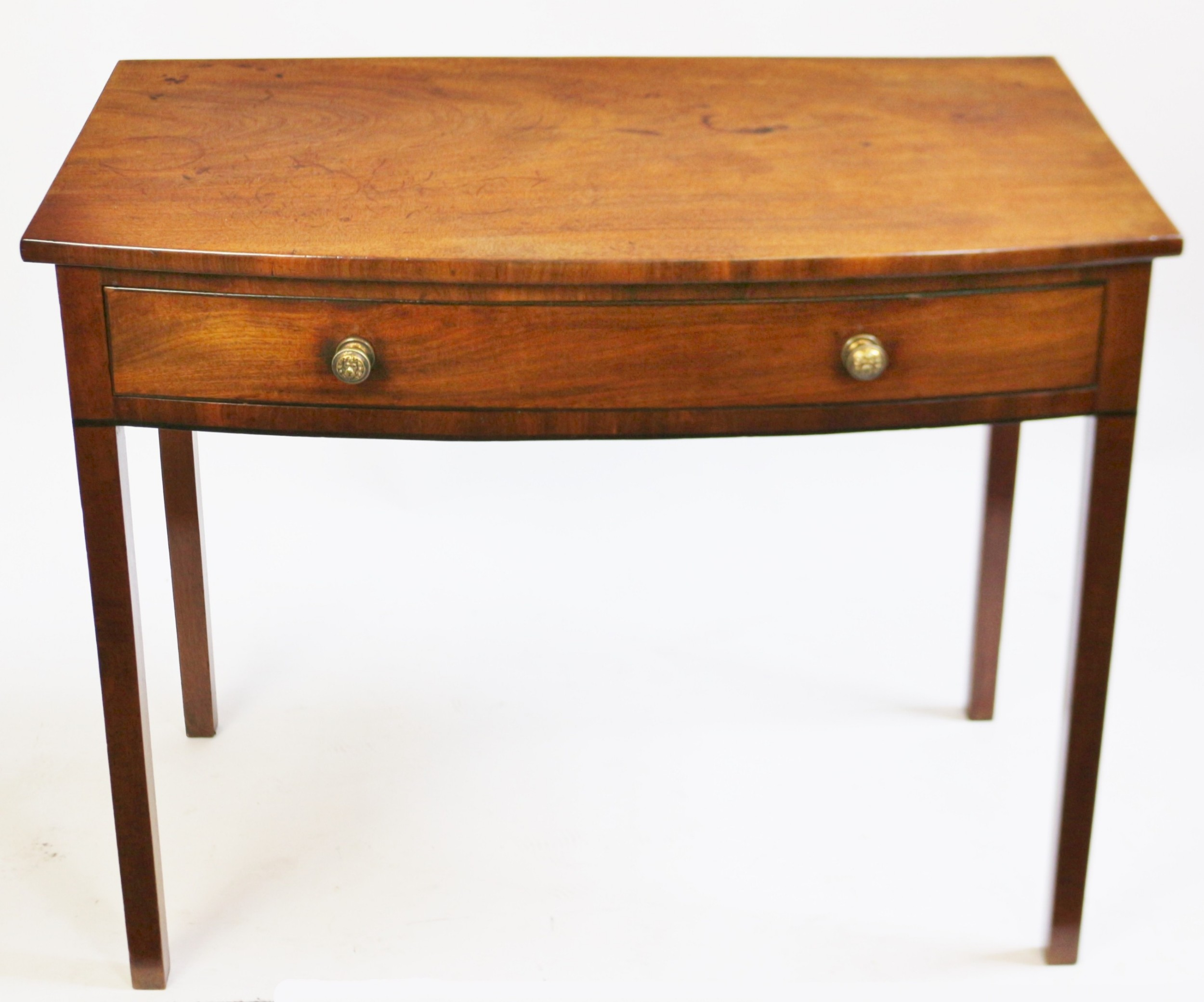 george 111 mahogany 1 drawer bowfront side table