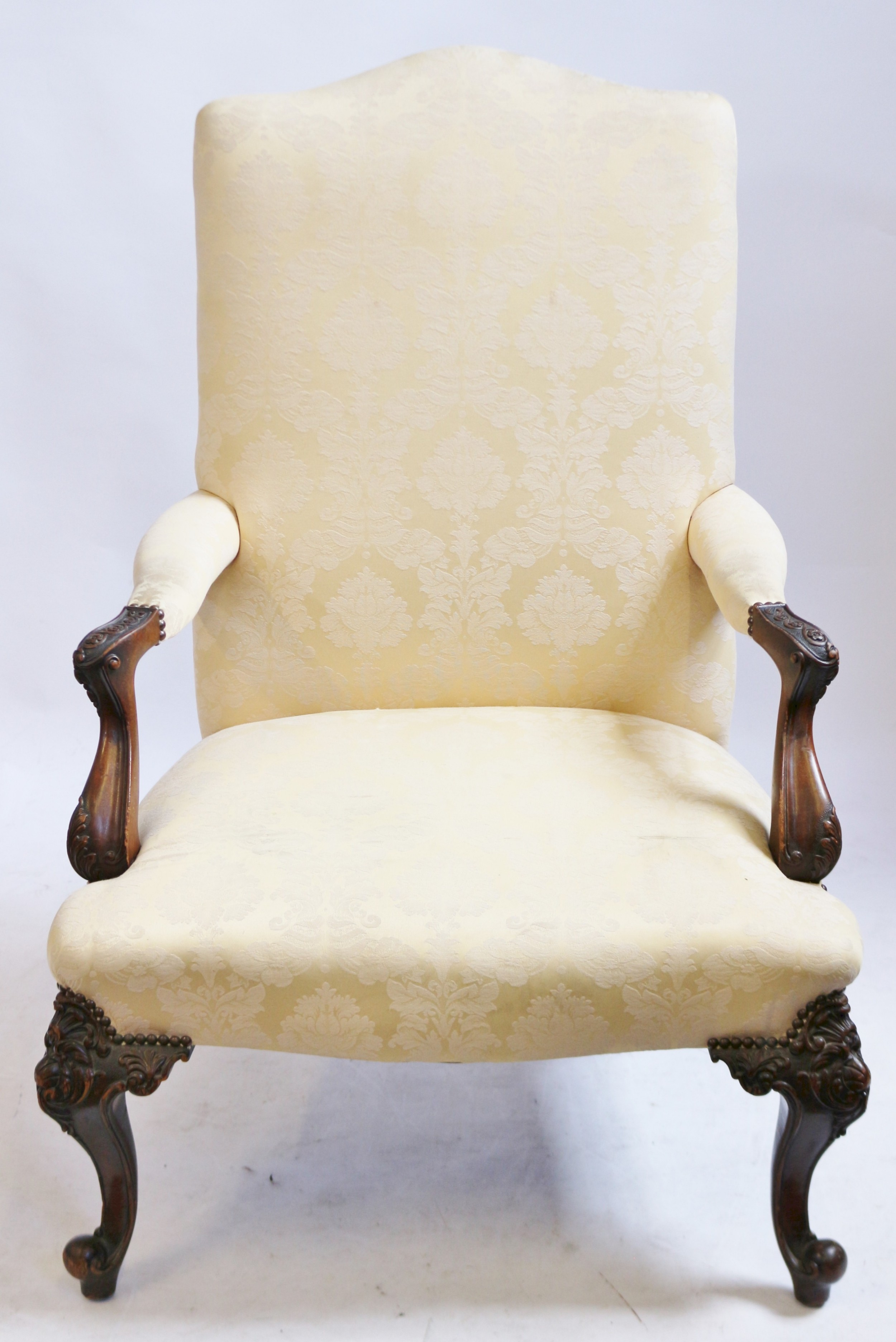 early 20c mahogany 'george 111' style open armchair