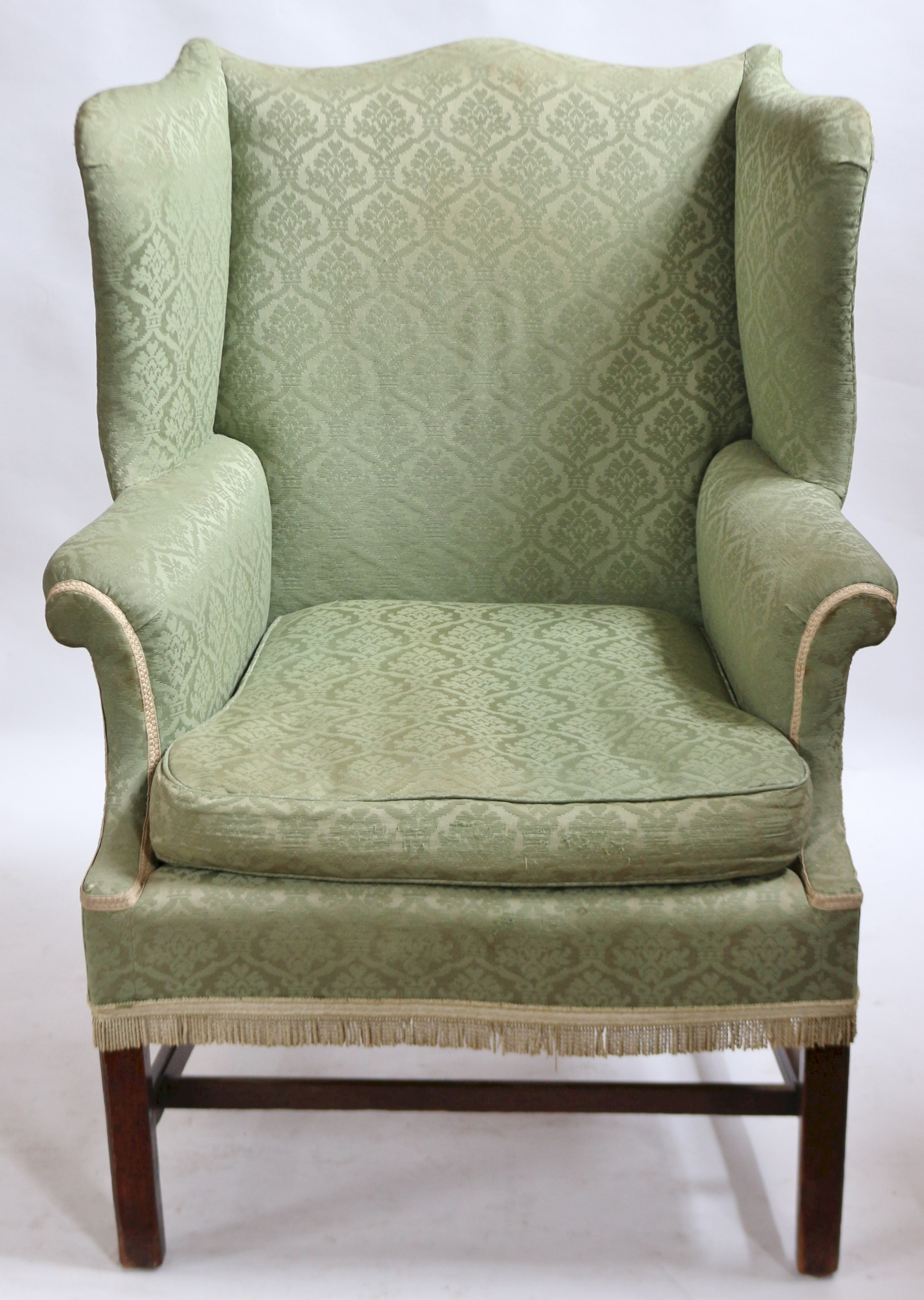 george 111 mahogany upholstered wing armchair