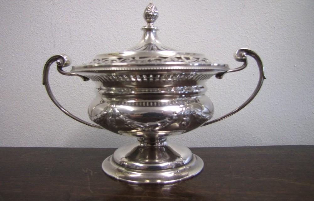 asprey co silver pot pourri of campana form