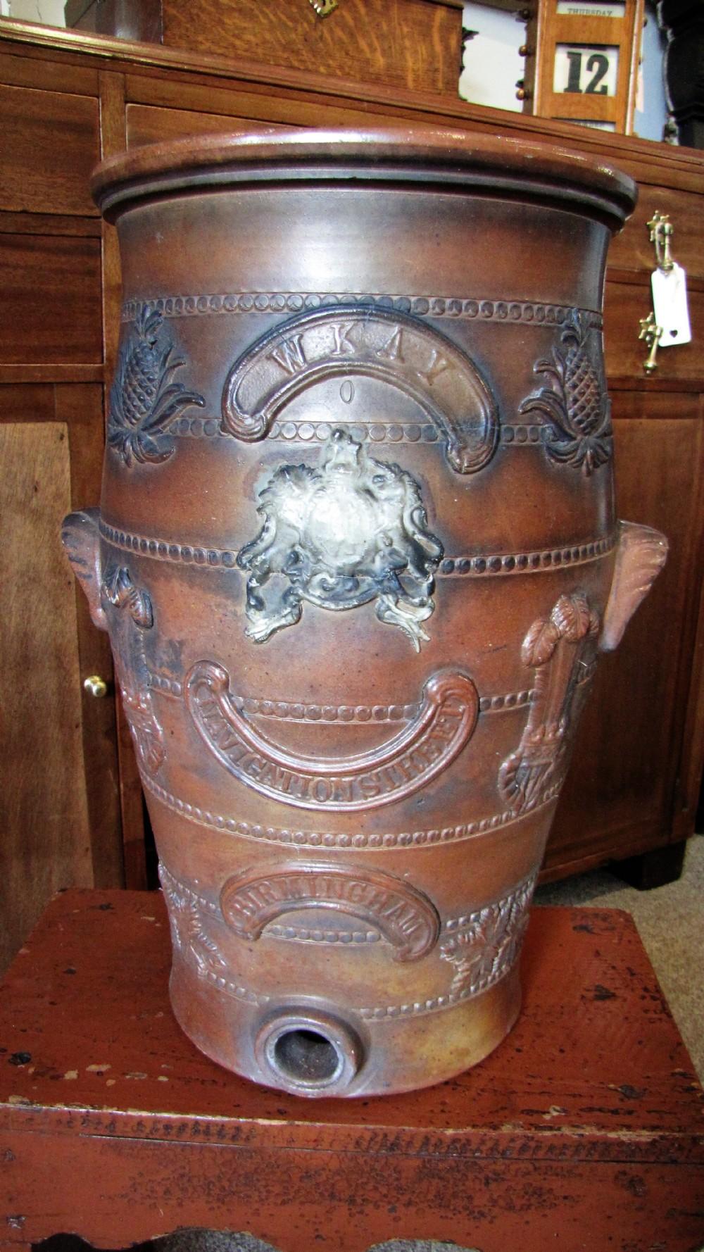 a salt glazed stoneware water filter jar