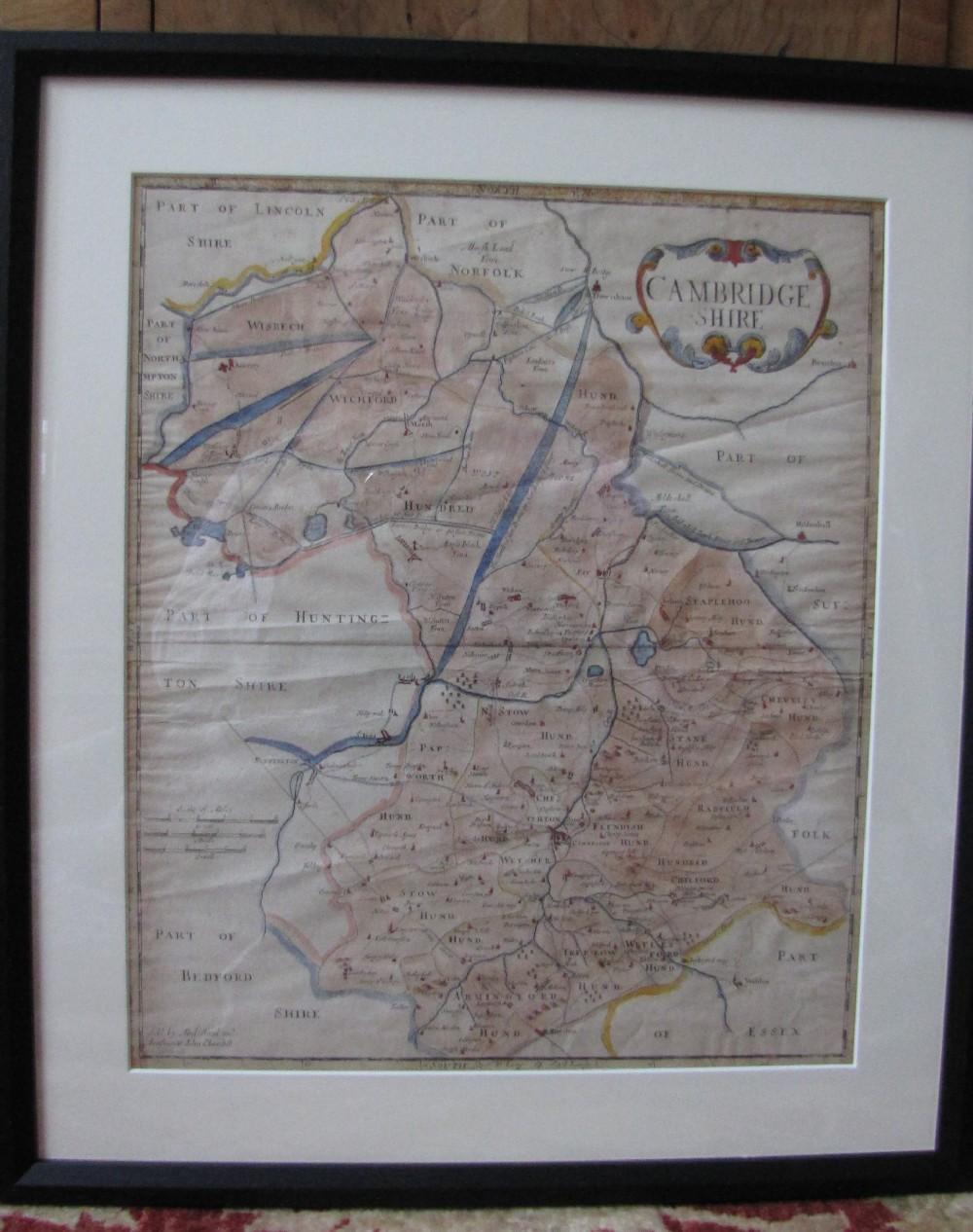 antique map of cambridgeshire