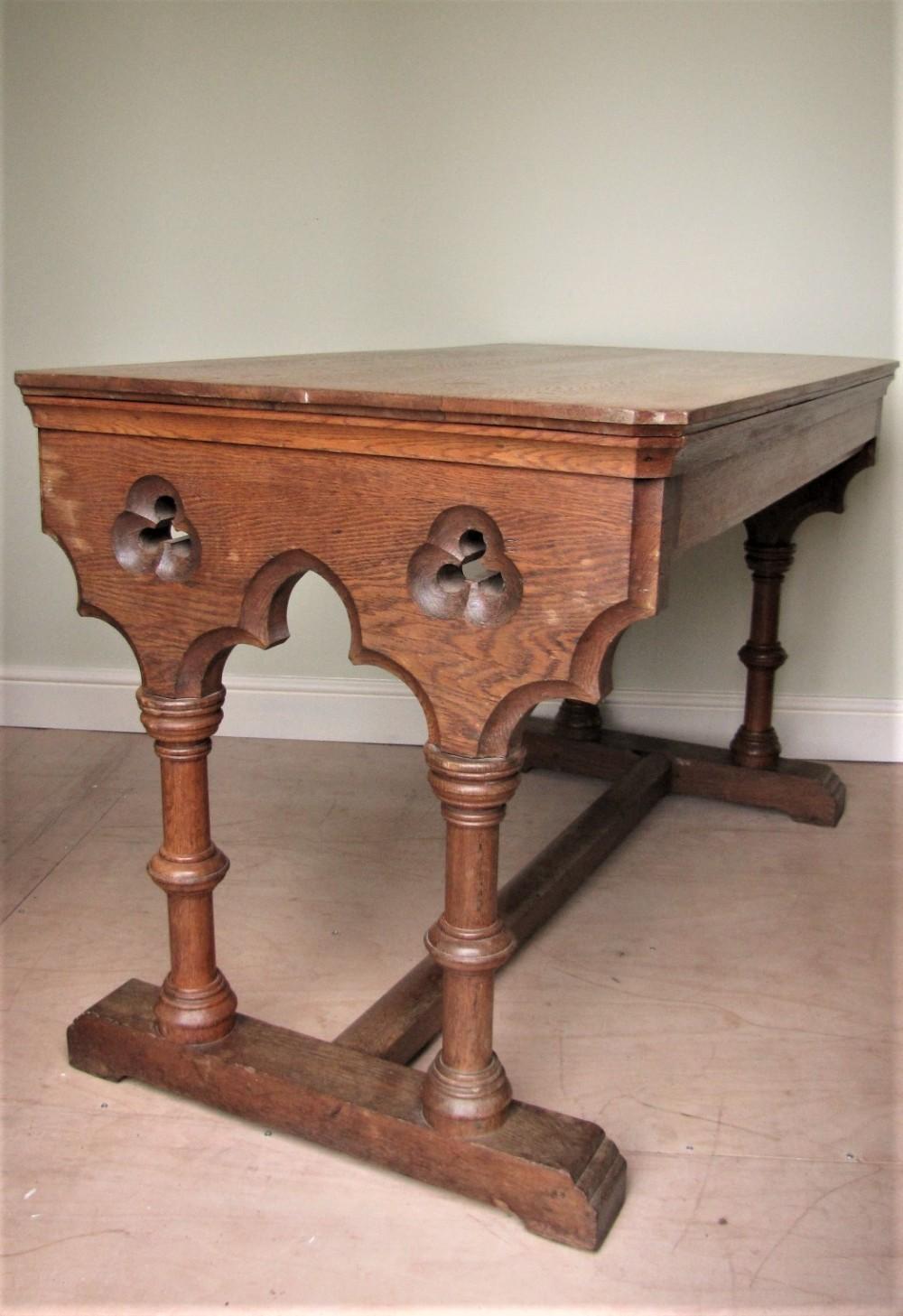 antique gothic oak table