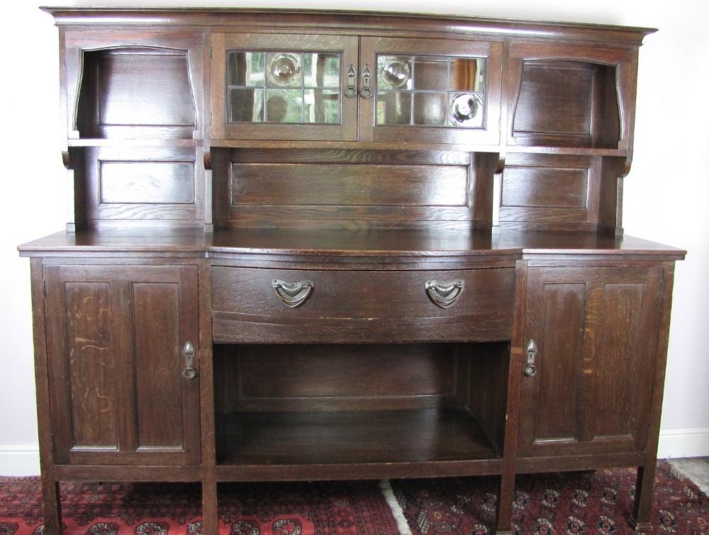 liberty co arts crafts oak 'milverton' dresser
