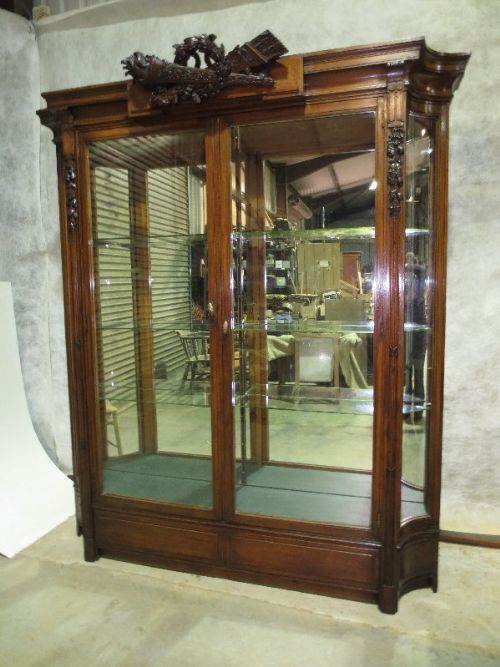 Mahogany Mirror Backed Display Cabinet | 282680 | Sellingantiques ...