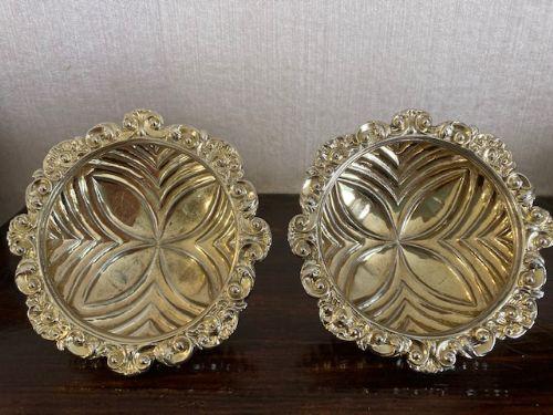 superb pair of georgian silver salts charles fox ii london 1822
